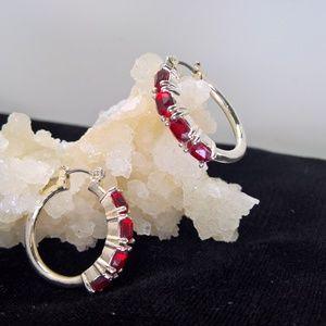 Jewelry - Avon's Birthstone Colored Hoop Earrings